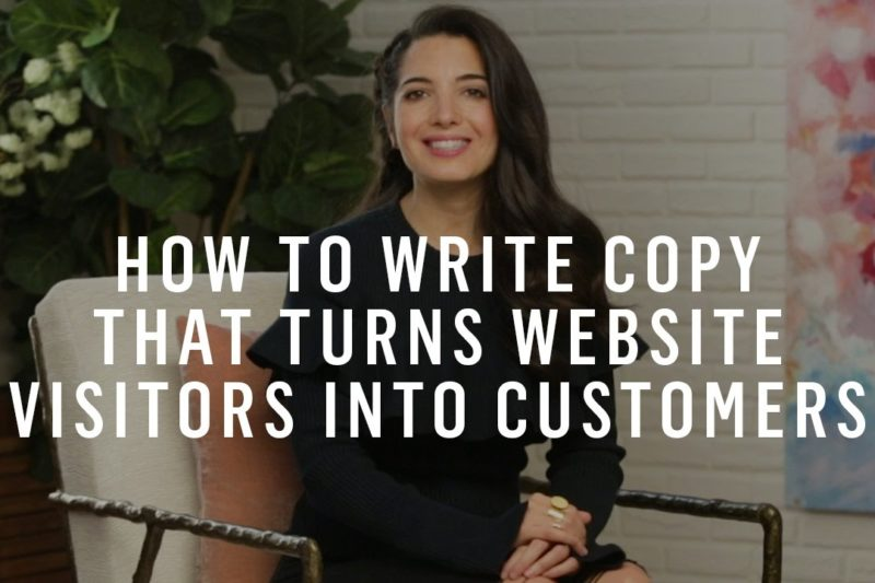 How To Write Copy That Turns Website Visitors Into Customers